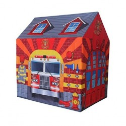 BrIQs - Kids In/Outdoor Firestation Playhouse Play Tent